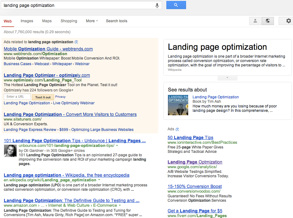 Landing Page Optimization - Optimizing for SEO