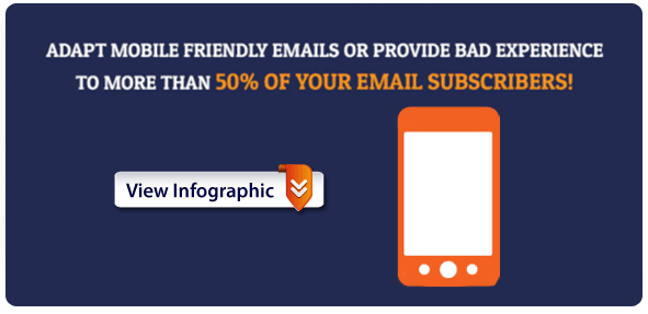 Mobile email market statistics infographic: More than 50% of emails are opened on mobile devices as of 2014