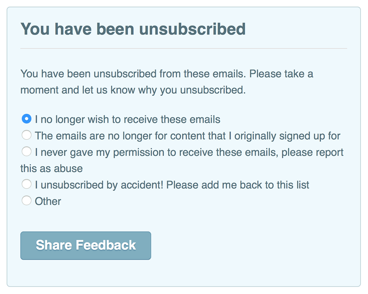 why-people unsubscribe-ExitSurvey_Marketizator