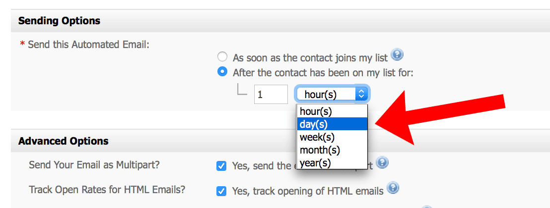 Scheduling second autoresponder