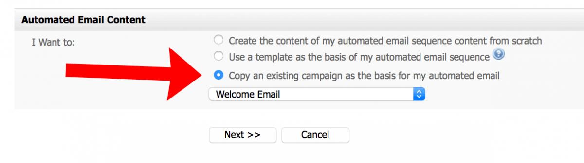 autoresponder setup welcome email template