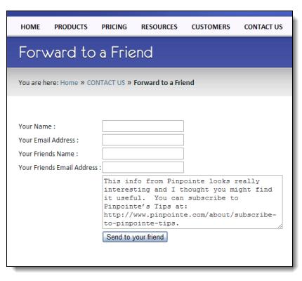 Email Marketing Challenges forwardtofriend