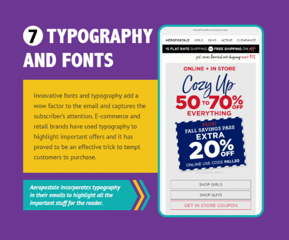 High Converting Email Newsletter - typography