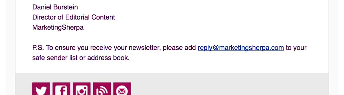 MarketingSherpaWhitelist-b2b welcome emails