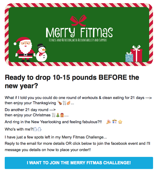 Merry fitness call to action