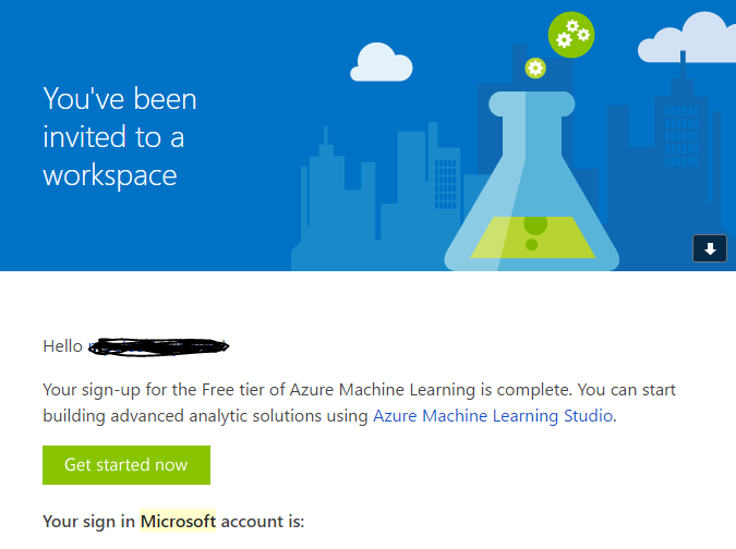 Microsoft Azure Call-to-Action