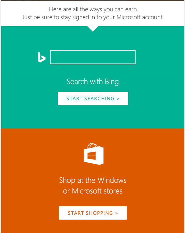 Microsoft Call to Action