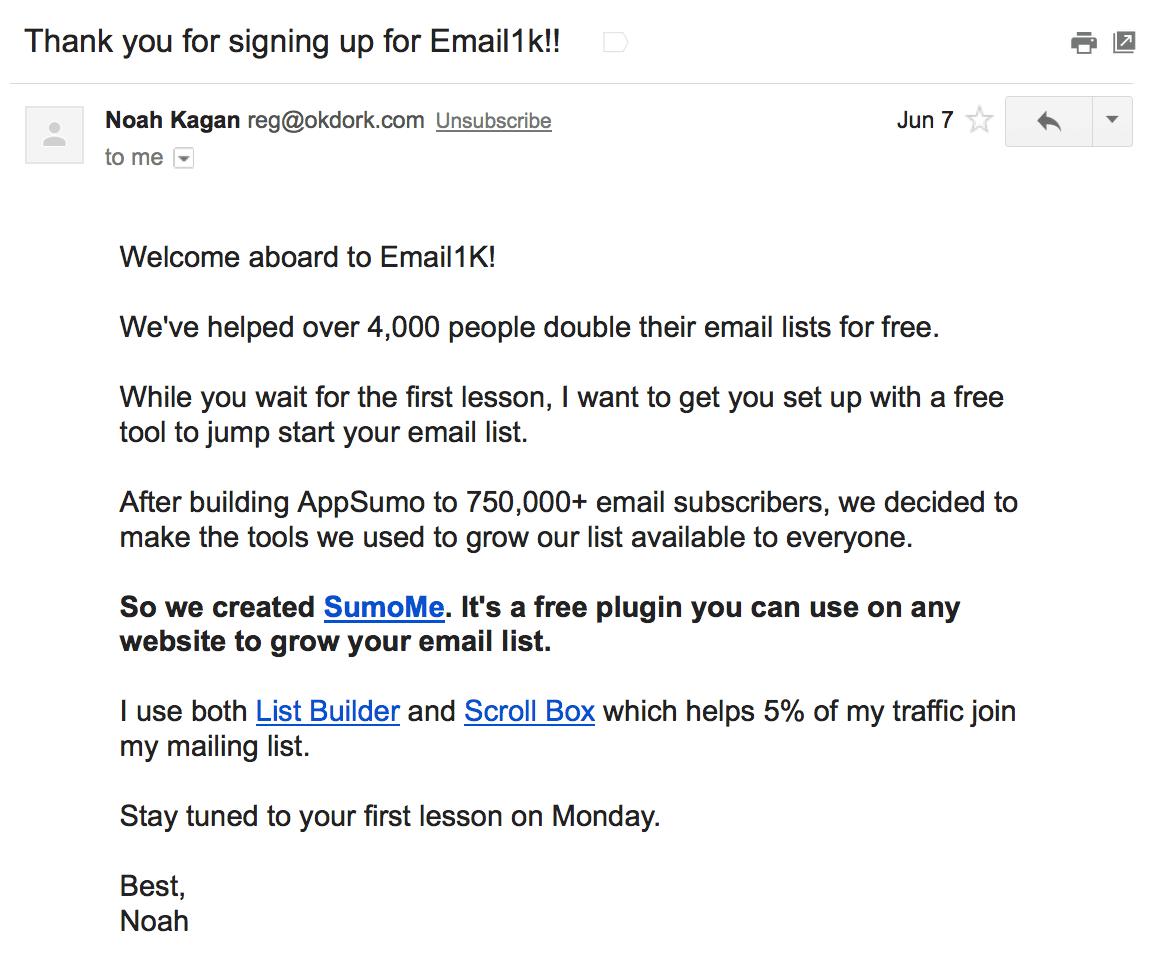 NoahKaganWelcome-b2b welcome emails