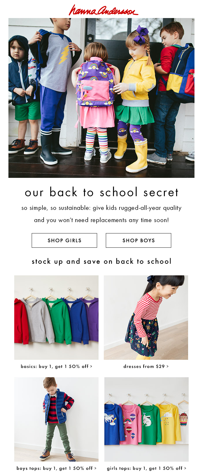 back to school emails - sale
