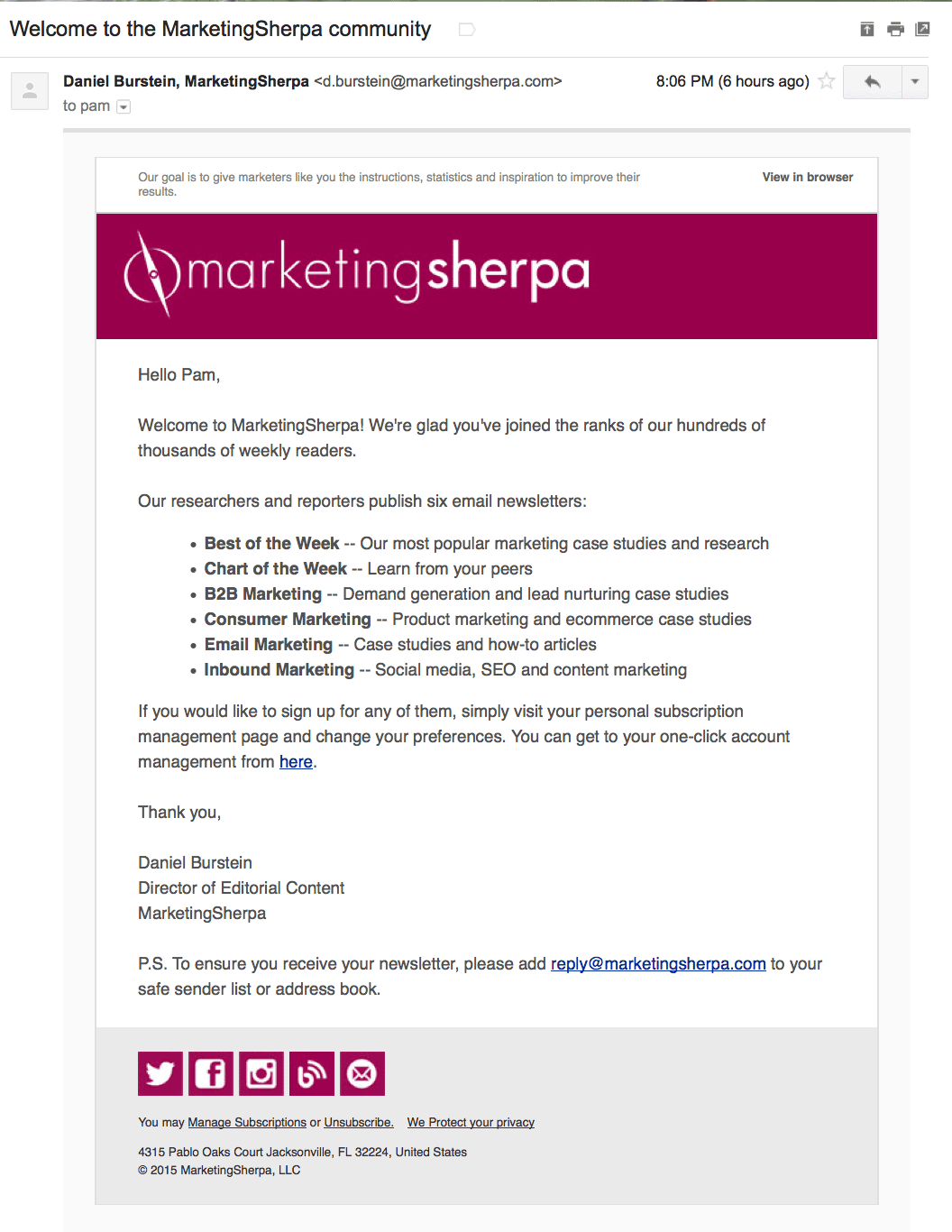 SherpaWelcome-b2b welcome emails