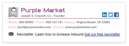 grow your email list - signature