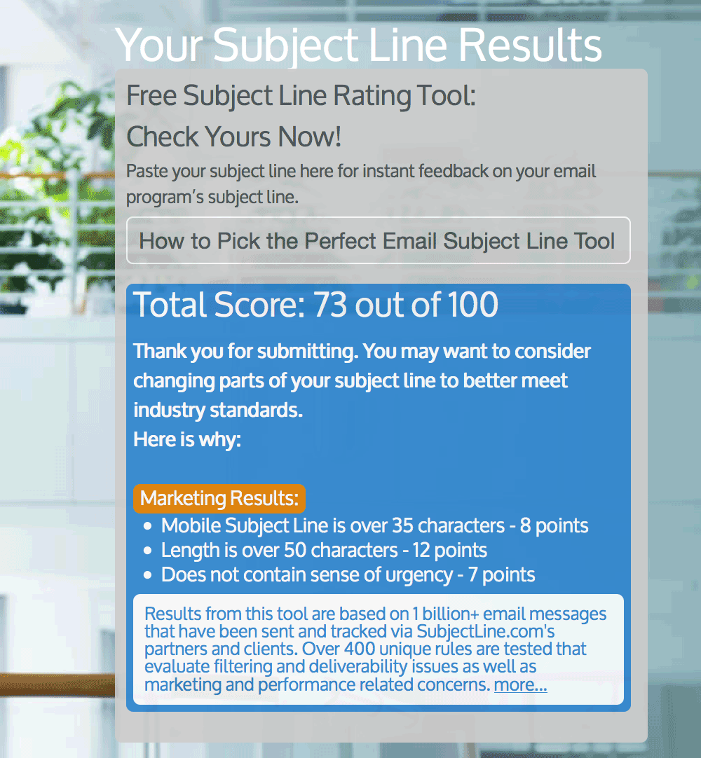 subject line dot coms email analyzer