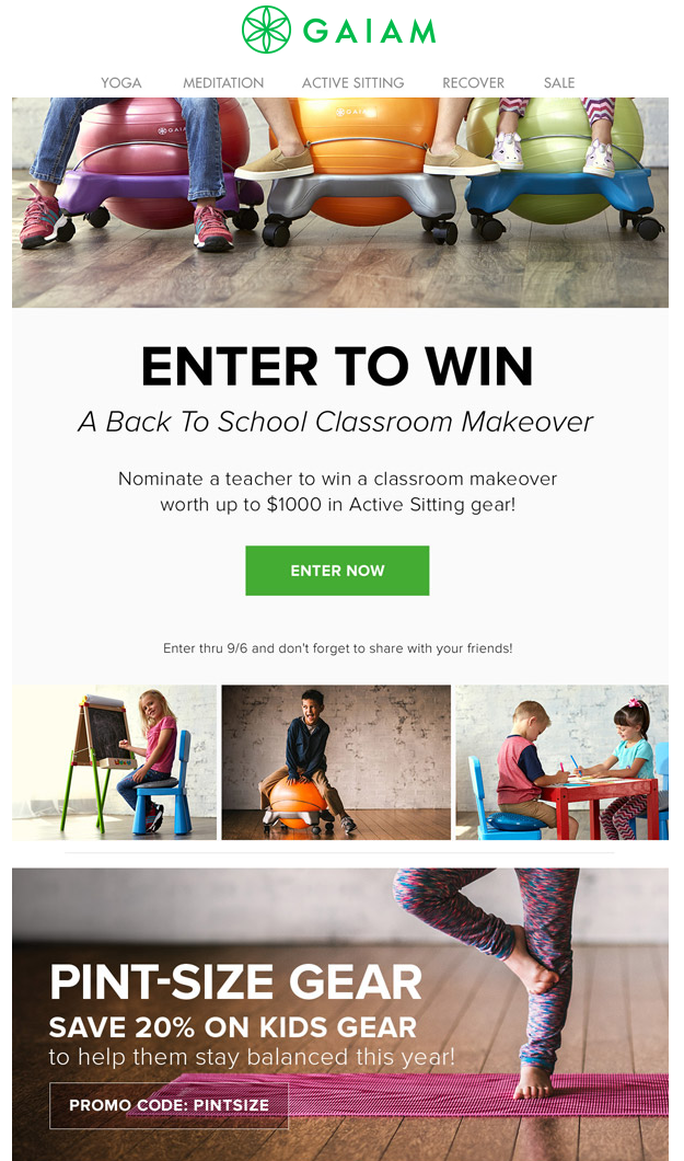 back to school emails -contest