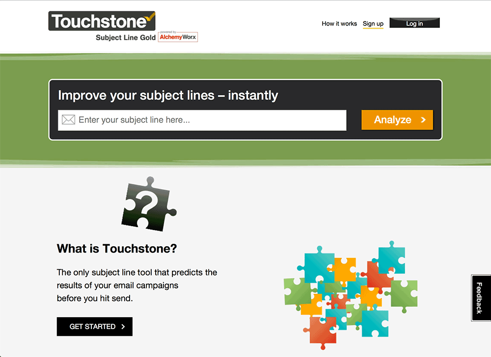 email marketing tricks Touchstone gives you feedback about your email subject lines before you send them