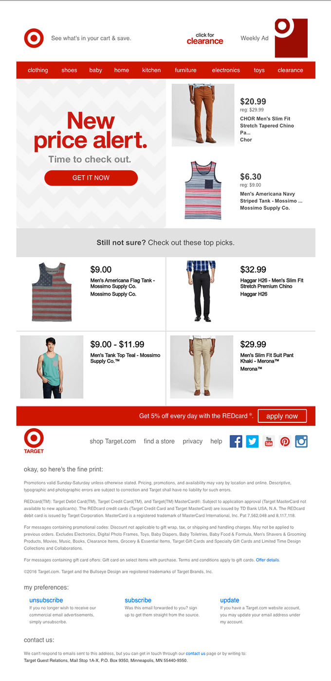 Email Personalization Techniques - target ad
