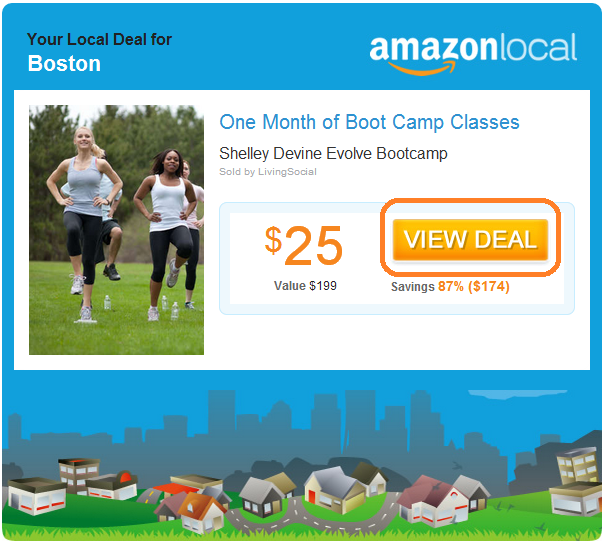 call to action - amazon