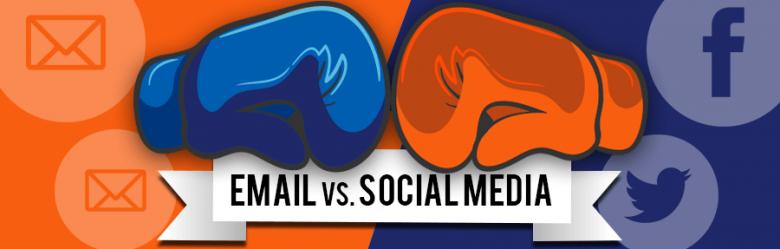 email versus social media banner