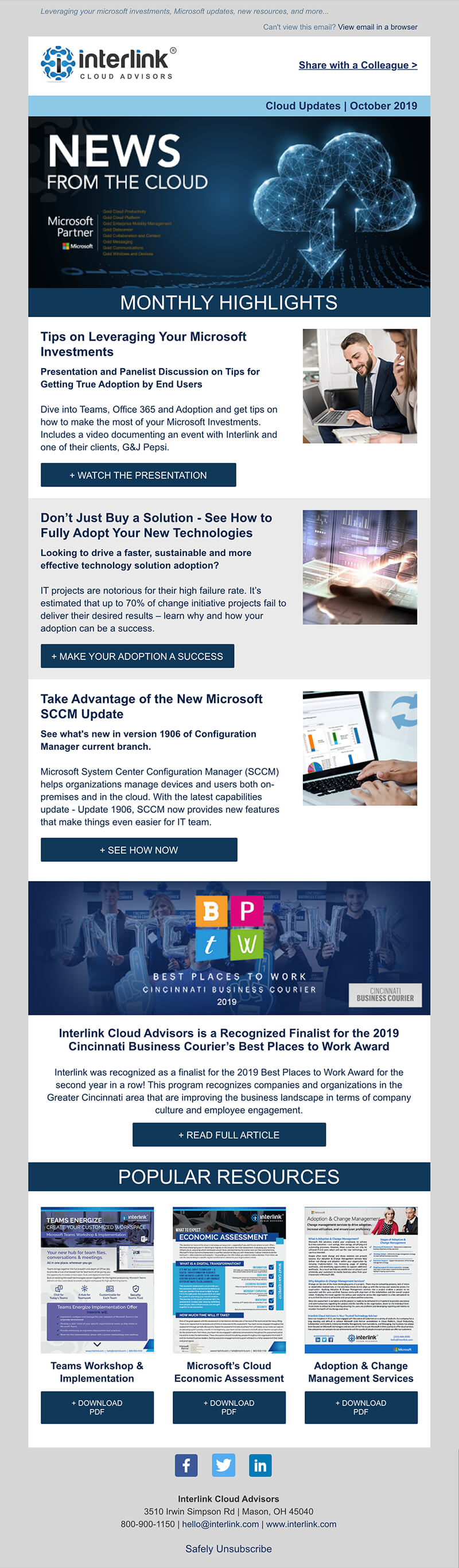 enewsletter-Interlink - email marketing templates