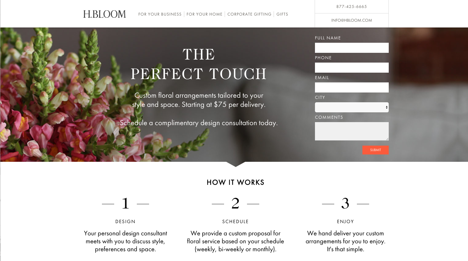 h-bloom-landing page conversion