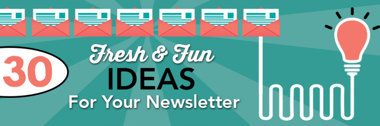 ideas for your newsletter pinpointe - Newsletter Ideas