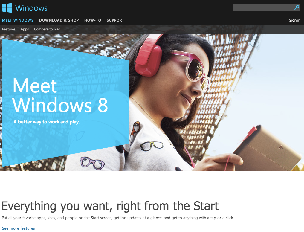 Creating Landing Pages - Inspiration ideas