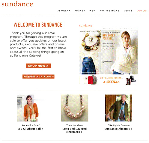 The Sundance catalog got radically higher open rates, clickthrough rates and revenues per email simply by changing how quickly they sent welcome emails.