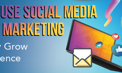 use social media-email marketing-grow audience