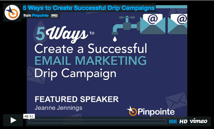 view webinar-5 ways to create a successful drip campaign