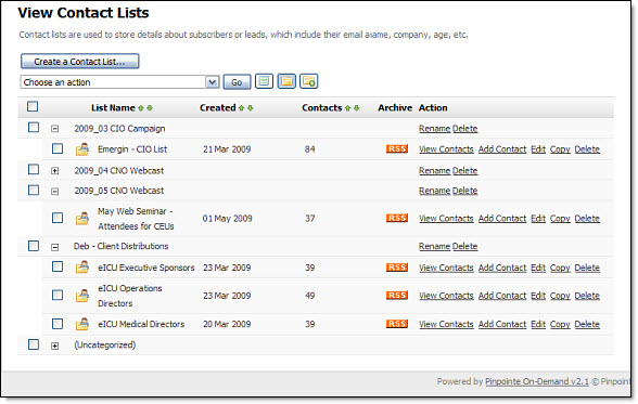 Organize Your Email Contact Lists