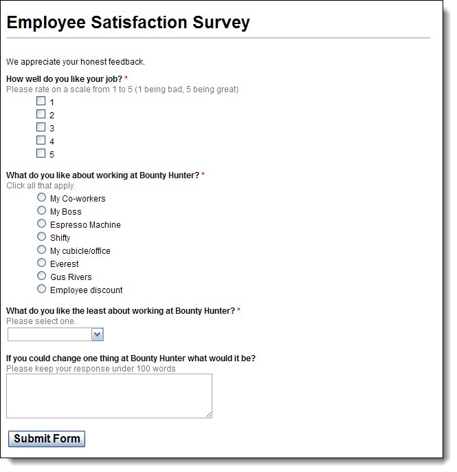 Preview Online Survey