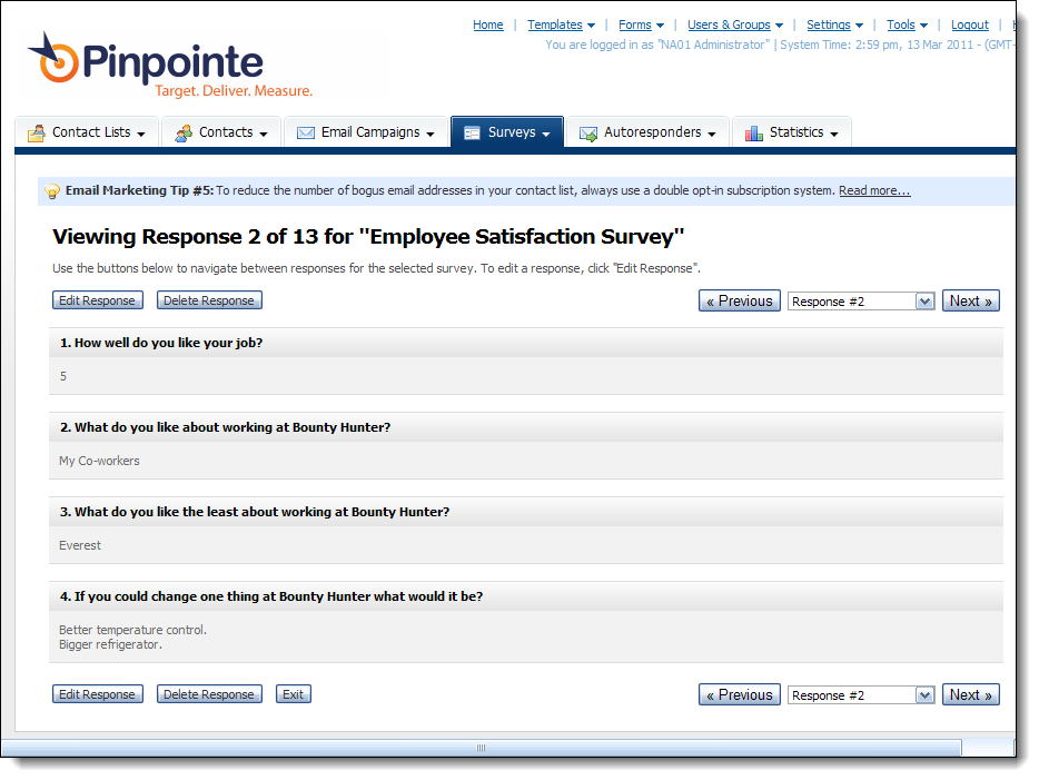Online Survey Responses