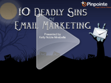 10 deadly sins of email marketing webinar